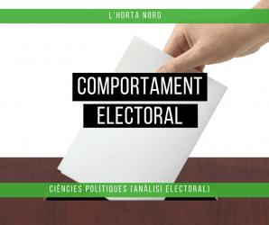 Comportament polític i electoral a l'Horta Nord